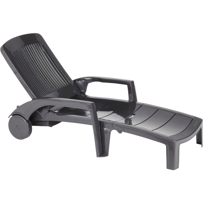 bain de soleil de jardin en r sine fidji anthracite leroy merlin. Black Bedroom Furniture Sets. Home Design Ideas