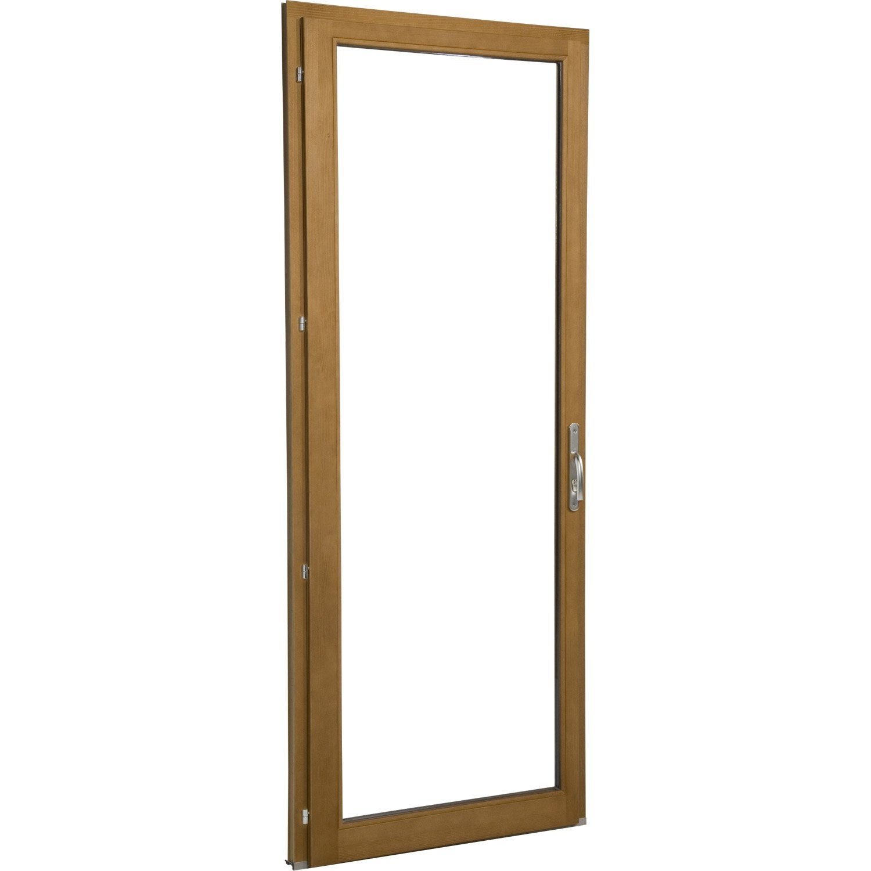 Porte fen tre en bois primo 1 vantail tirant gauche for Porte fenetre leroy merlin