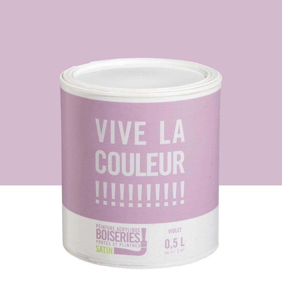 peinture boiserie vive la couleur violet 0 5 l leroy. Black Bedroom Furniture Sets. Home Design Ideas