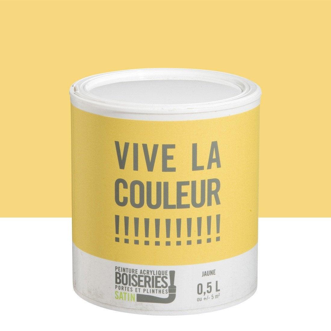 peinture boiserie vive la couleur jaune fonc 0 5 l leroy merlin. Black Bedroom Furniture Sets. Home Design Ideas