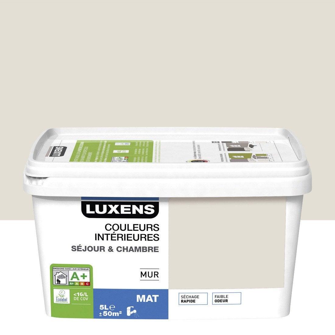 Peinture blanc lin 2 luxens couleurs int rieures 5 l for Peinture speciale salle de bain