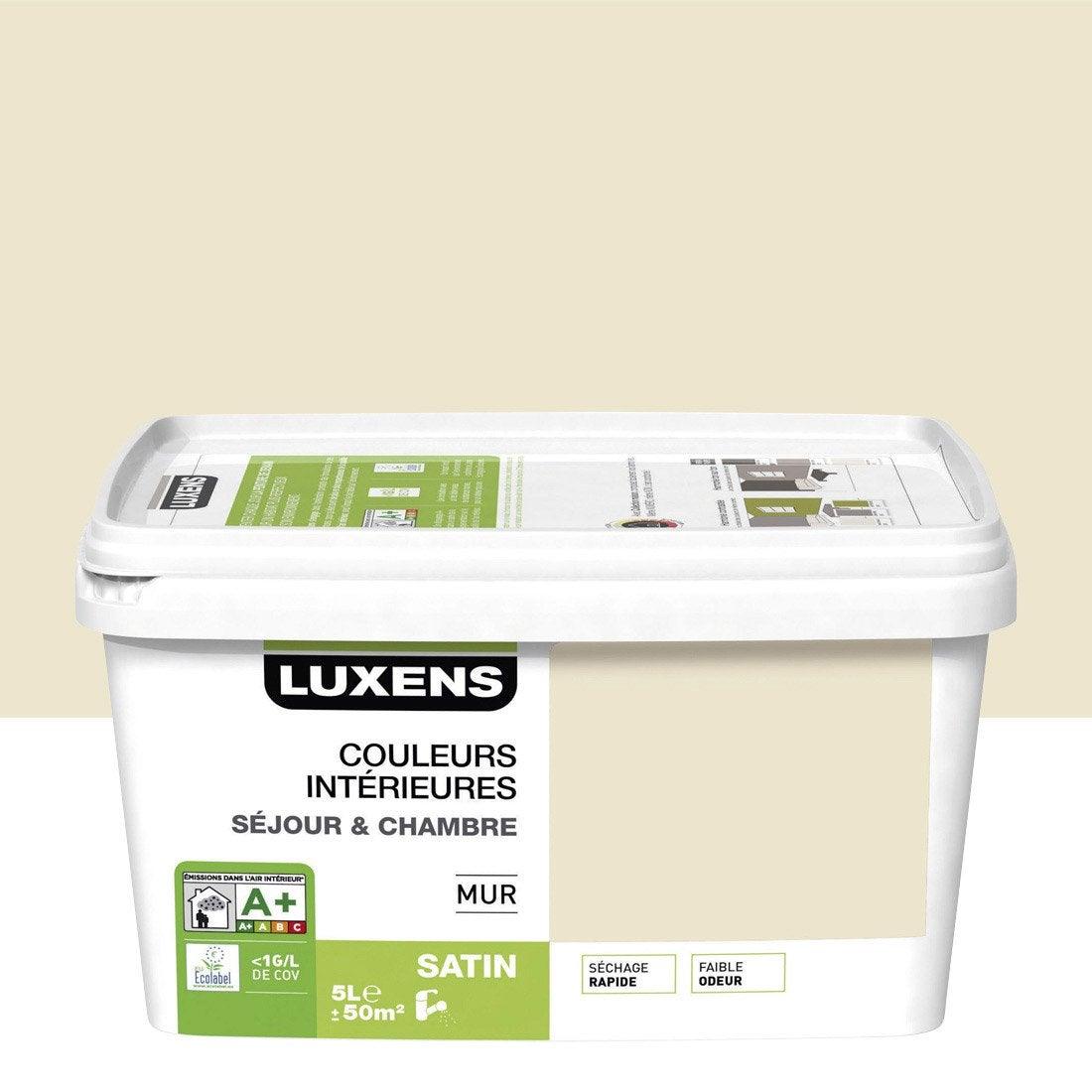 peinture blanc ivoire 6 luxens couleurs intrieures 5 l - Salon Blanc Ivoire