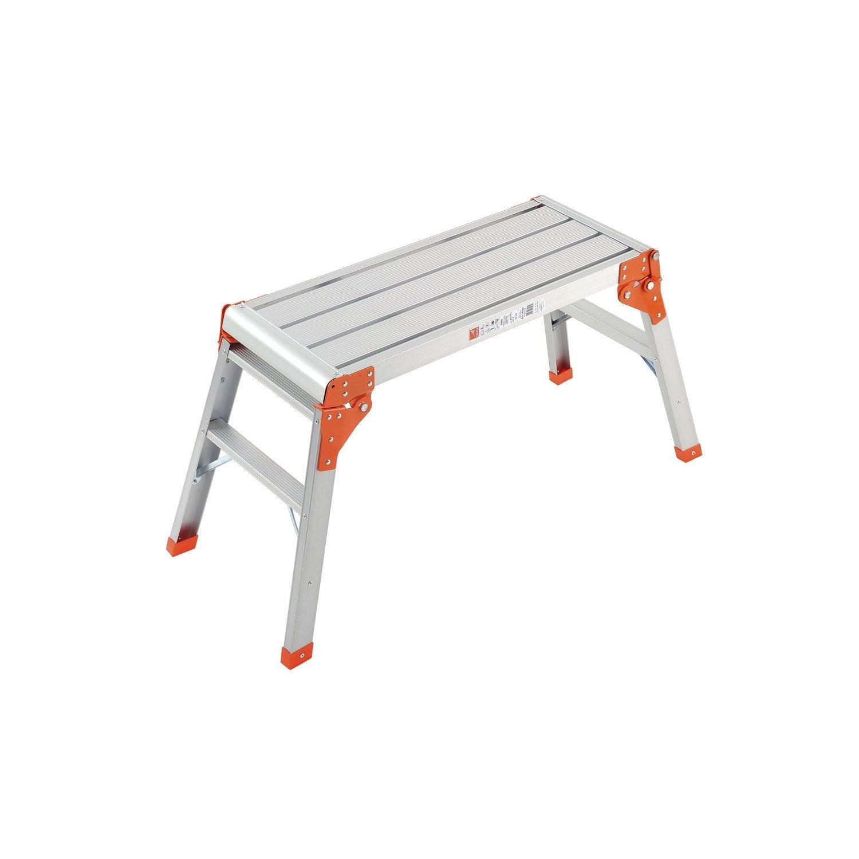 Plateforme de travail multifonctions gierre en aluminium leroy merlin - Platte aluminium leroy merlin ...