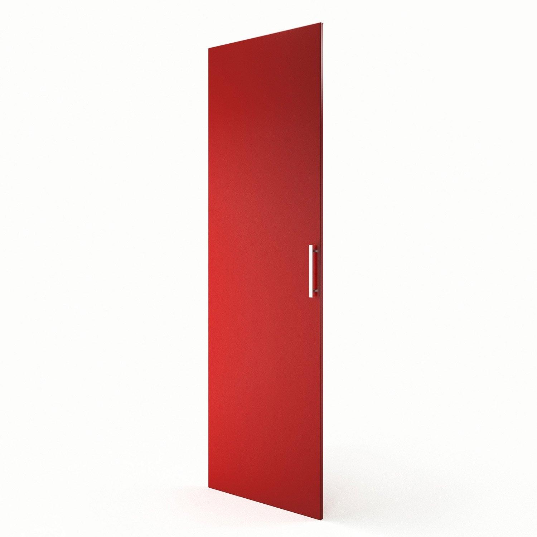 Porte colonne de cuisine rouge f60 200 d lice l60 x h200 for Porte 60 x 180