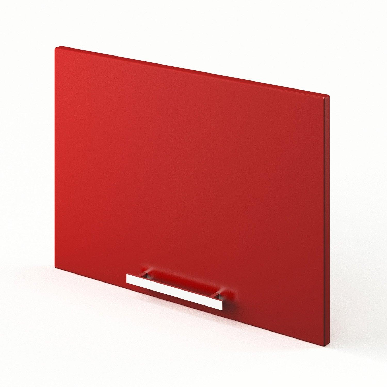Idee Deco Chambre Bebe Hello Kitty : Porte sur hotte de cuisine rouge F6042 Délice, L60 X H42 cm  Leroy