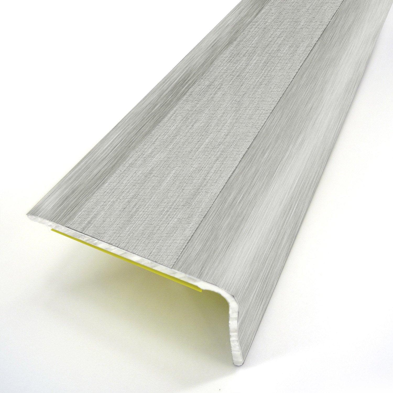 nez de marche aluminium rev tu d co gris x l 3 6 cm