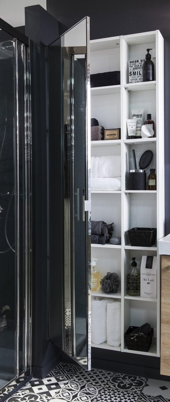 Une douche l 39 italienne dans un petit espace leroy merlin for Salle de douche petit espace