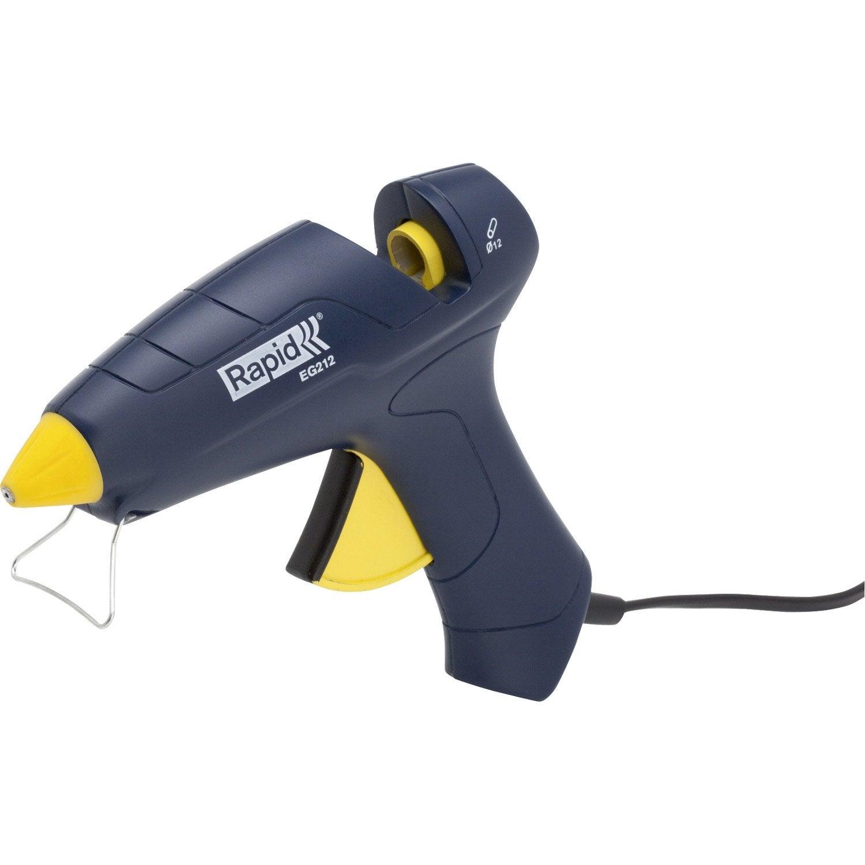 Pistolet colle filaire rapid eg212 12 mm leroy merlin for Pistolet pour crepi exterieur