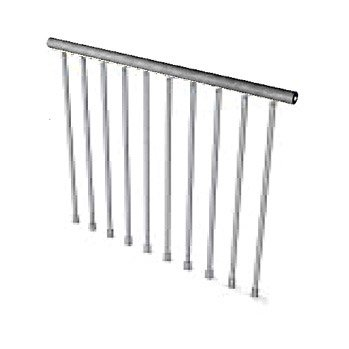 Garde corps pour escalier steel zink pixima leroy merlin - Leroy merlin balustrade ...