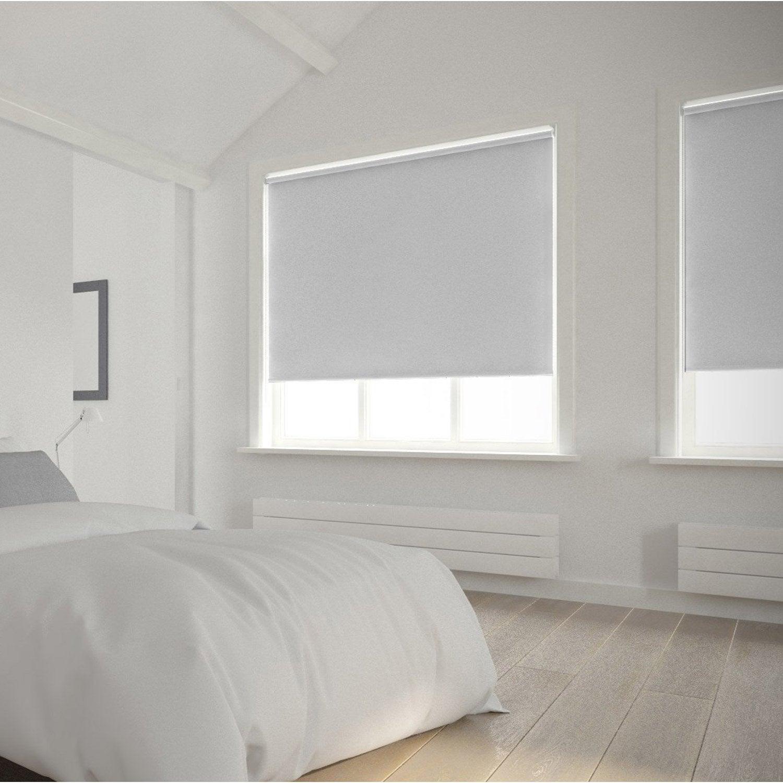 Store enrouleur occultant 5715 inspire blanc blanc n 0 90x250 cm leroy me - Joint pret a poser salle de bain ...