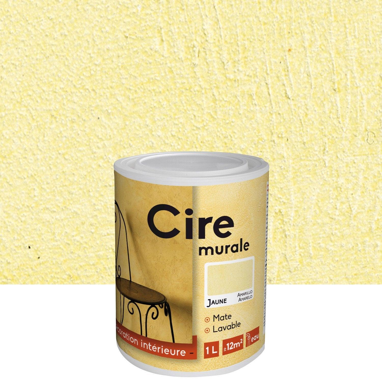 Peinture effet les decoratives cire jaune 1 l leroy - Peinture effet vieilli leroy merlin ...