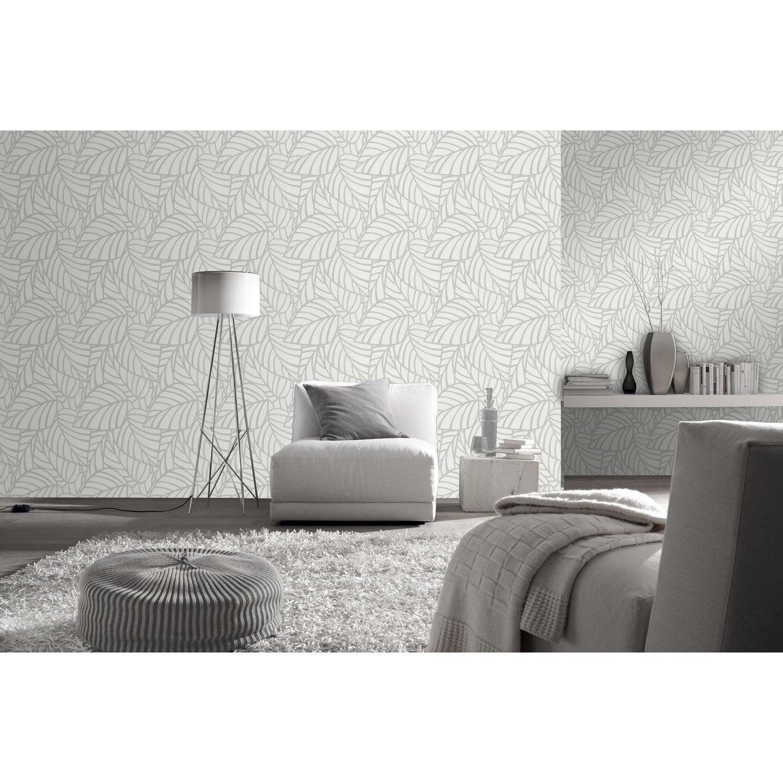 papier peint intiss botero gris leroy merlin. Black Bedroom Furniture Sets. Home Design Ideas