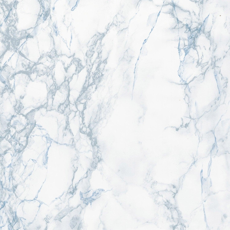 Rev tement adh sif marbre gris et bleu 2 m x m for Carrelage faux marbre