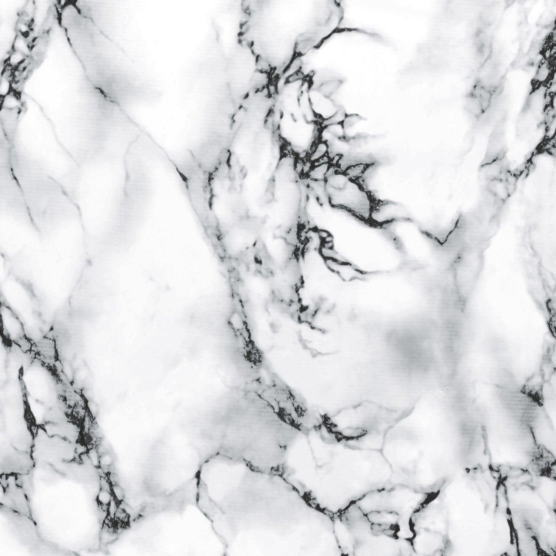 Rev tement adh sif marbre blanc x 2 m leroy merlin - Leroy merlin revetement adhesif ...