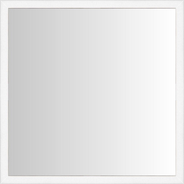 Miroir lario inspire blanc x cm leroy merlin for Miroir chauffant leroy merlin