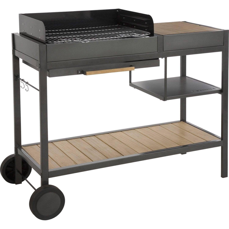 Barbecue au charbon de bois naterial resort leroy merlin - Barbecue fonte charbon de bois leroy merlin ...