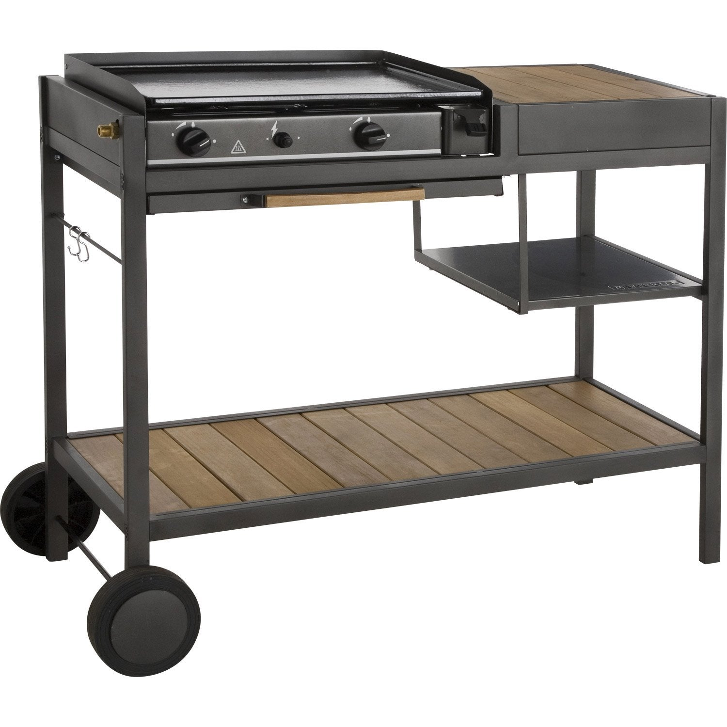 Plancha gaz inox leroy merlin barbecue au charbon de bois for Barbecue a gaz leroy merlin