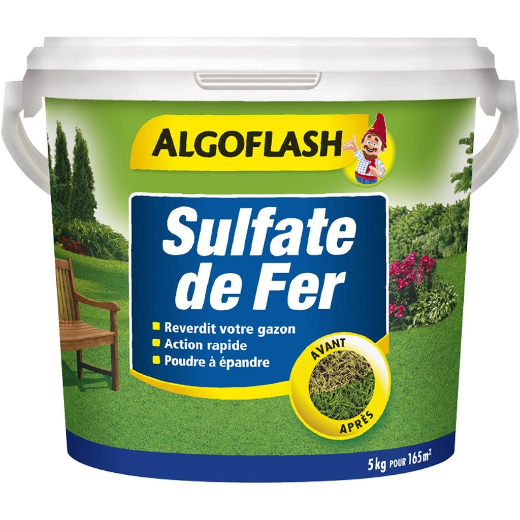 sulfate de fer s lectif algoflash 5 kg leroy merlin. Black Bedroom Furniture Sets. Home Design Ideas