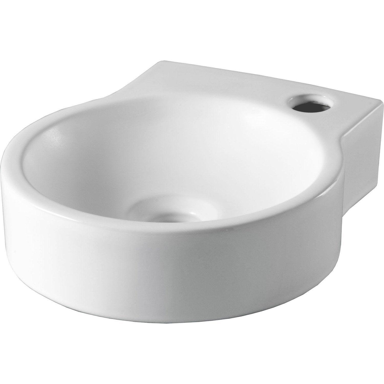 lave mains c 233 ramique blanc l 27 x l 31 cm gaspard leroy merlin