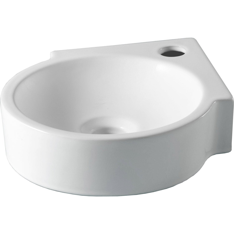 C ramique blanc x cm carol leroy merlin - Lave main d angle leroy merlin ...