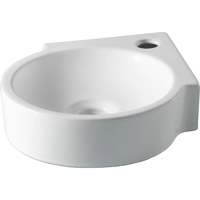 Lave mains c ramique blanc x cm carol - Leroy merlin meuble lave main ...