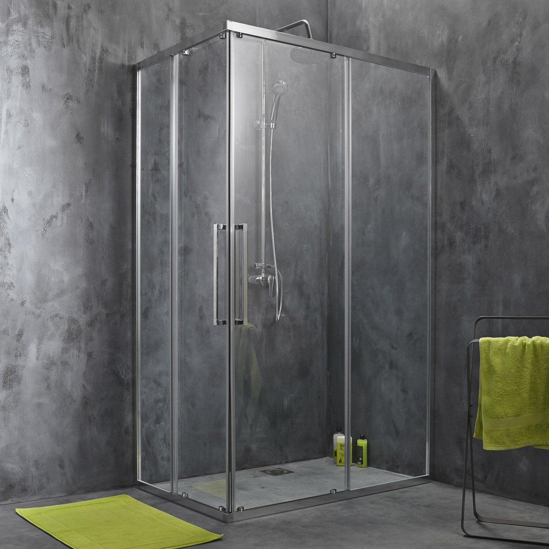 Portes de douche leroy merlin meilleures images d for Porte en verre coulissante leroy merlin