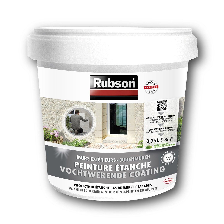 peinture tanche stop infiltration bas de mur rubson blanc leroy merlin. Black Bedroom Furniture Sets. Home Design Ideas