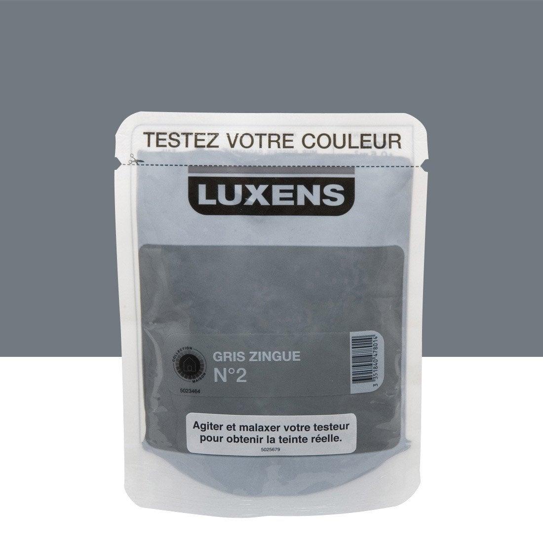 Testeur peinture gris zingu 2 luxens couleurs int rieures - Peinture leroy merlin luxens ...