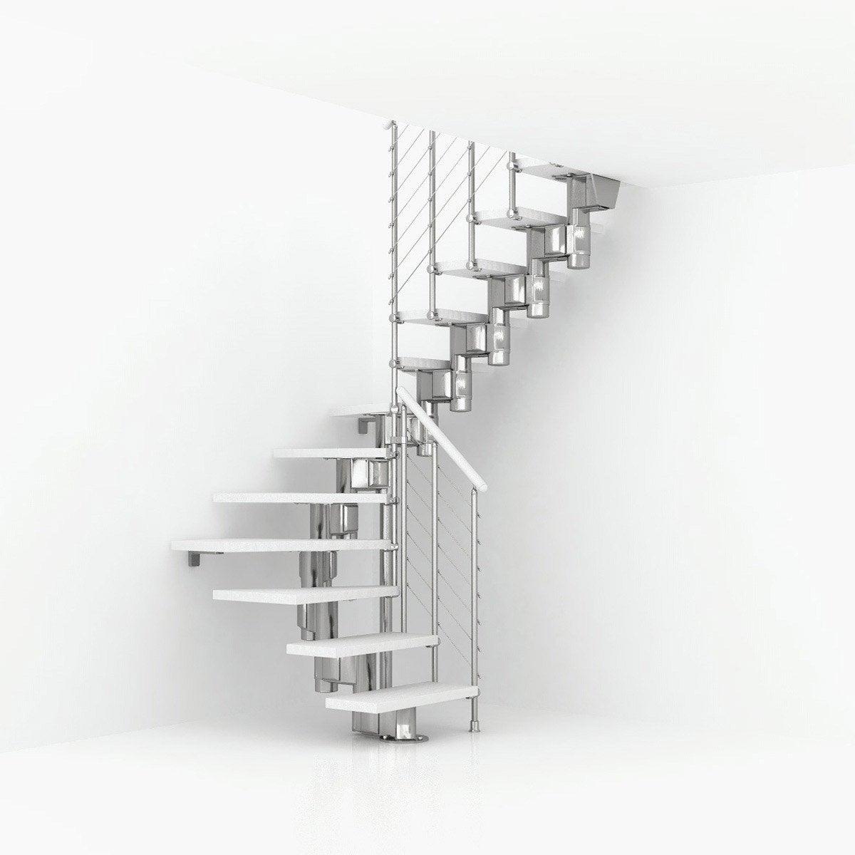 Escalier Bois Leroy Merlin : Escalier modulaire Long structure m?tal marche bois Leroy Merlin