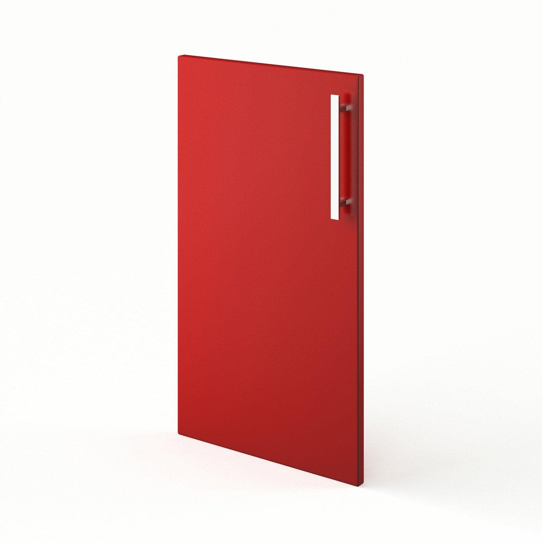 Porte de cuisine rouge f40 d lice l40 x h70 cm leroy merlin - Leroy merlin porte cuisine ...