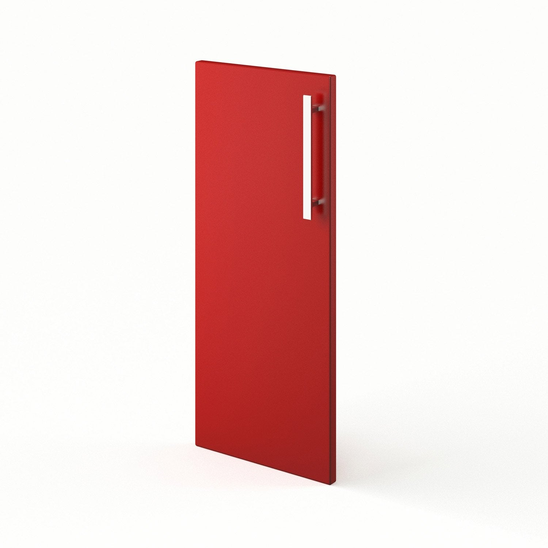 Porte de cuisine rouge f30 d lice l30 x h70 cm leroy merlin for Porte 70 cm de large