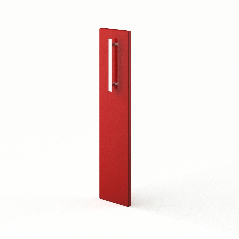 Porte de cuisine rouge d lice x cm leroy merlin for Porte 70 cm de large