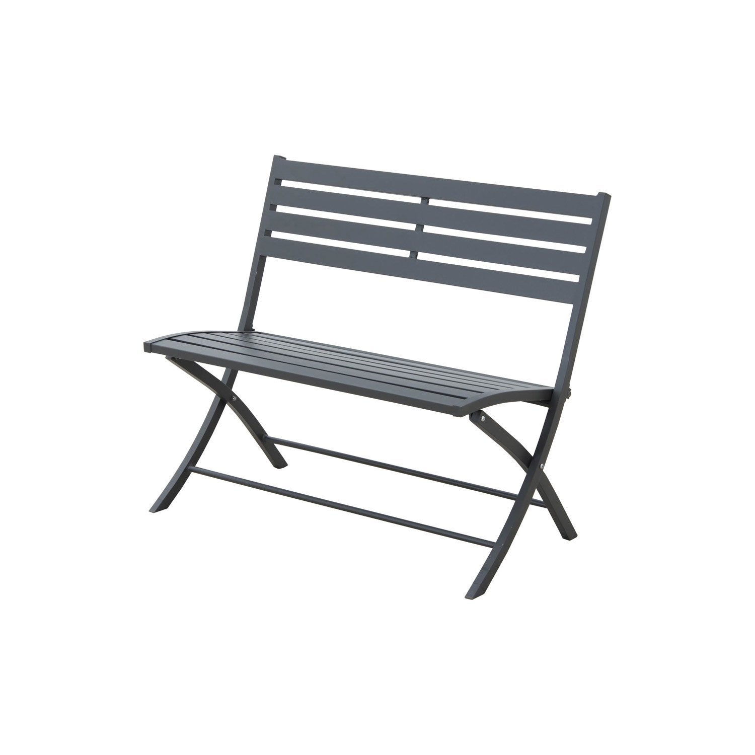 banc 2 places de jardin en aluminium marius gris leroy merlin. Black Bedroom Furniture Sets. Home Design Ideas