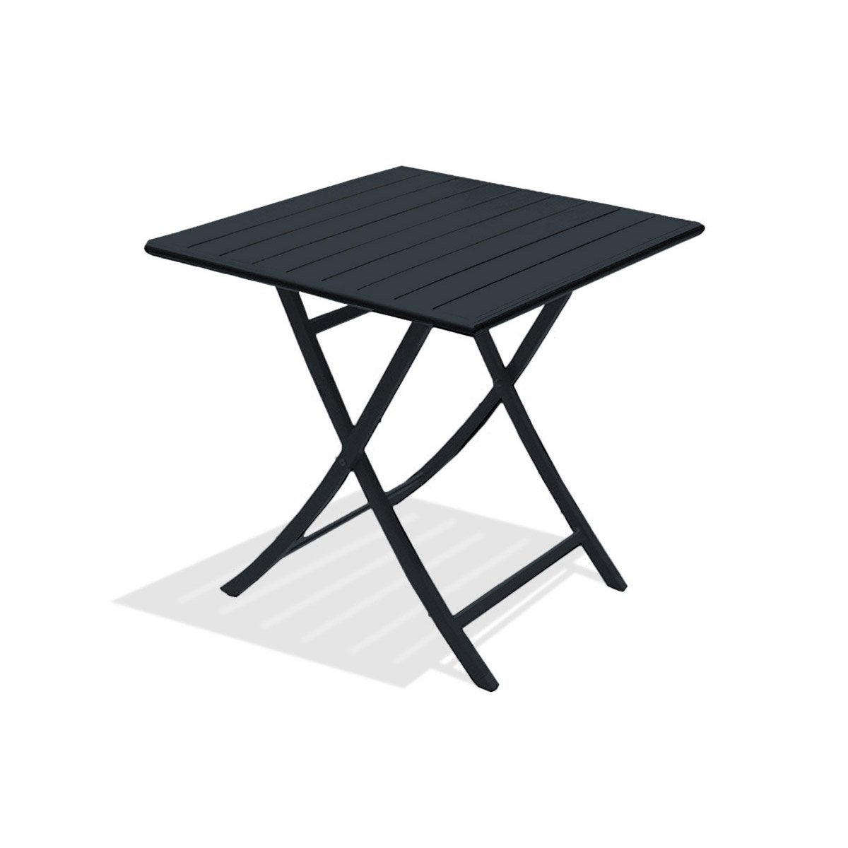 table jardin. table de jardin marius carrée gris anthracite 2 personnes
