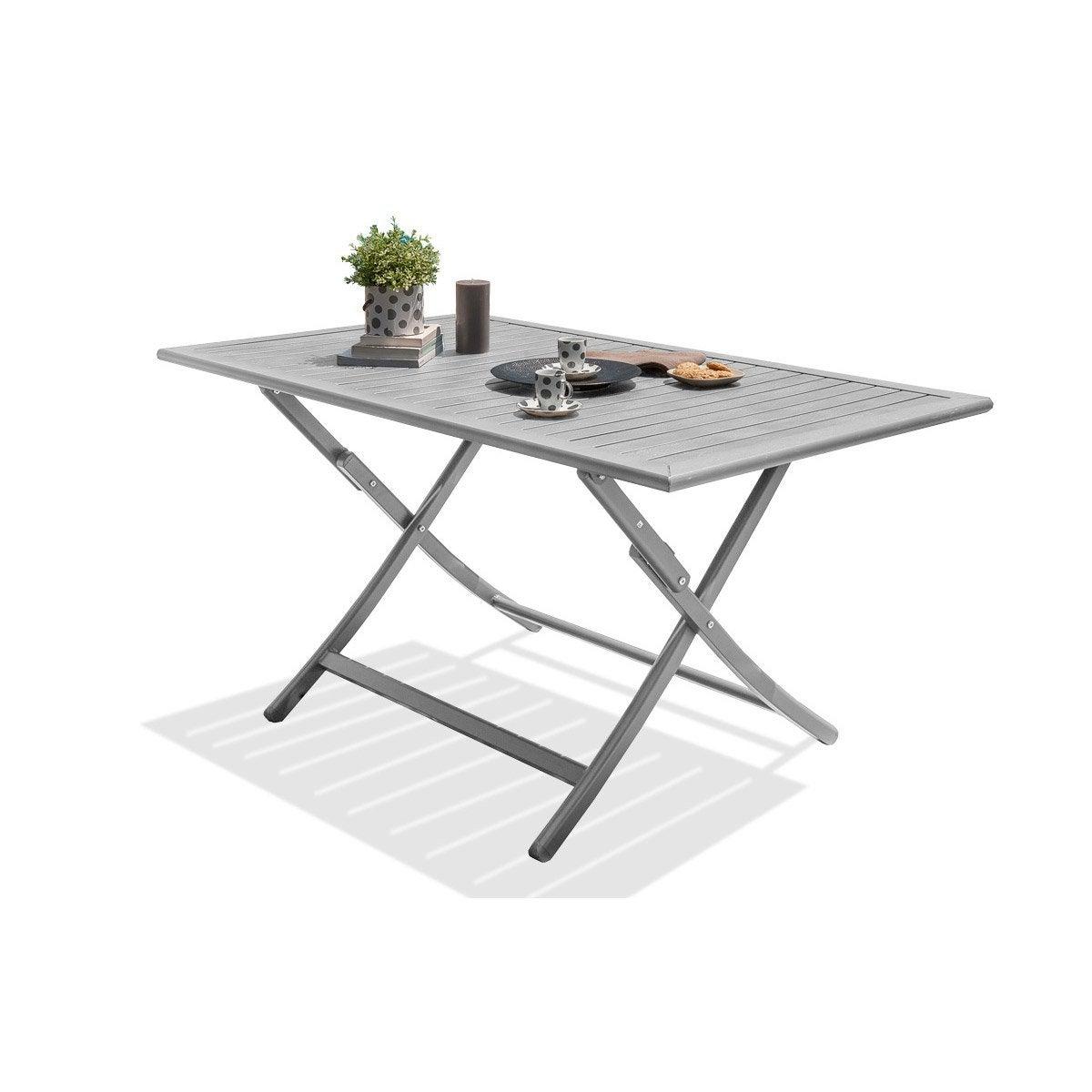 Best salon de jardin gris metal pictures amazing house - Table de jardin aluminium leroy merlin ...