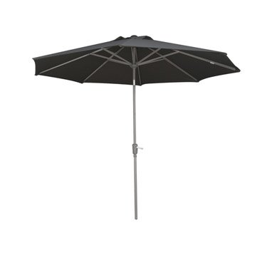 parasol droit h lios naterial gris zingu 7 m leroy merlin. Black Bedroom Furniture Sets. Home Design Ideas