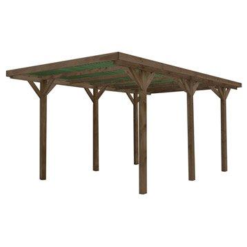carport en bois enzo m leroy merlin. Black Bedroom Furniture Sets. Home Design Ideas