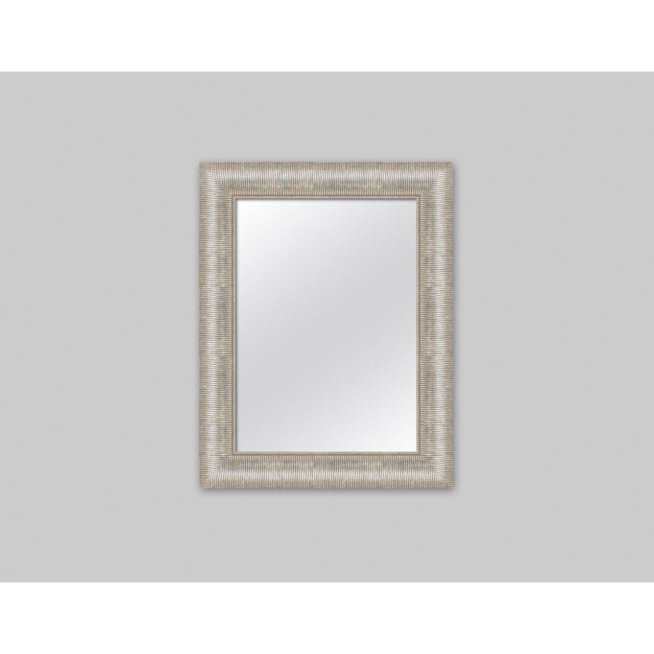 Miroir orn argent x cm leroy merlin for Miroir 50 x 70 leroy merlin