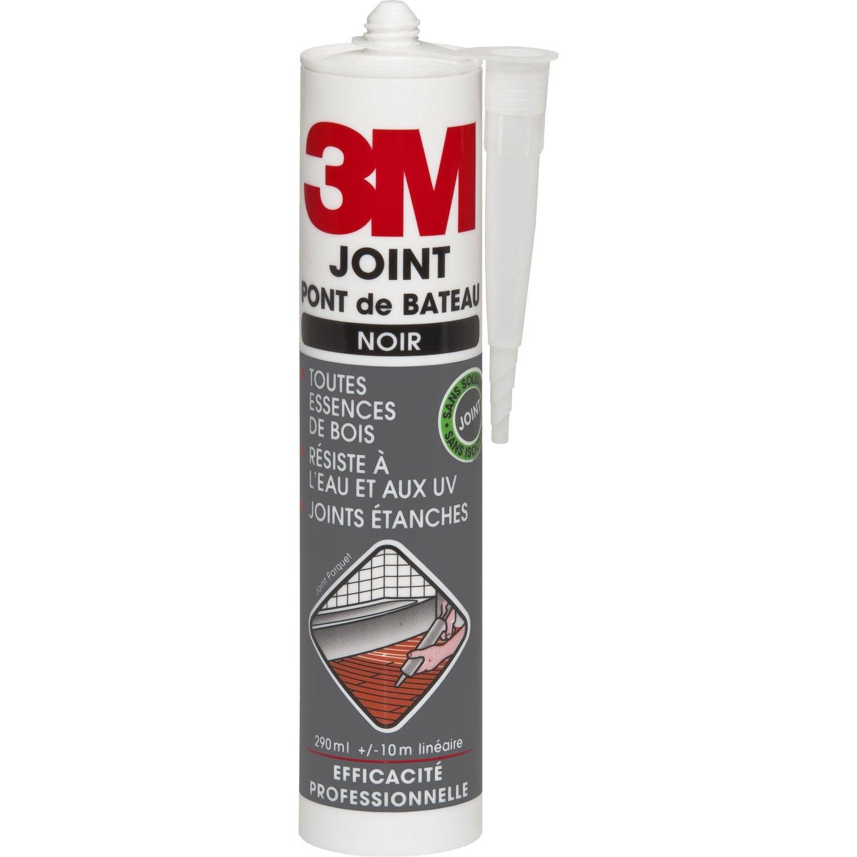 Joint pont de bateau pour plinthes parquets et stratifi s 3m noir 290 ml leroy merlin - Joint acrylique leroy merlin ...