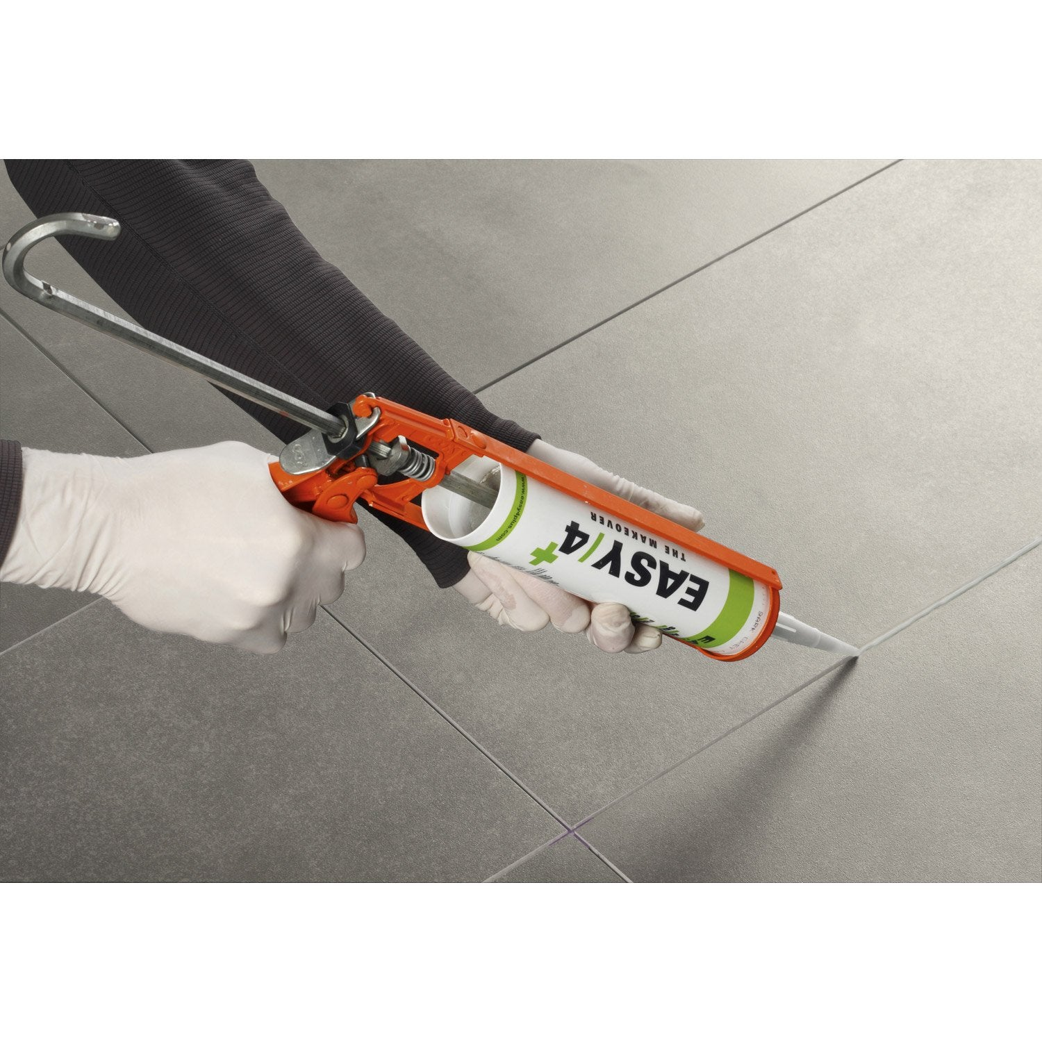 Joint acrylique pour carrelage pose sans colle easy4 gris clair 310 ml leroy merlin - Colle carrelage exterieur leroy merlin ...
