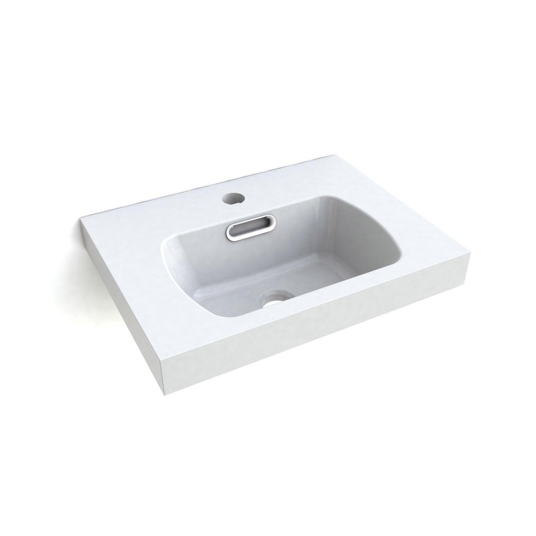 lave mains avec support r glable r sine blanc x cm latitude leroy merlin. Black Bedroom Furniture Sets. Home Design Ideas