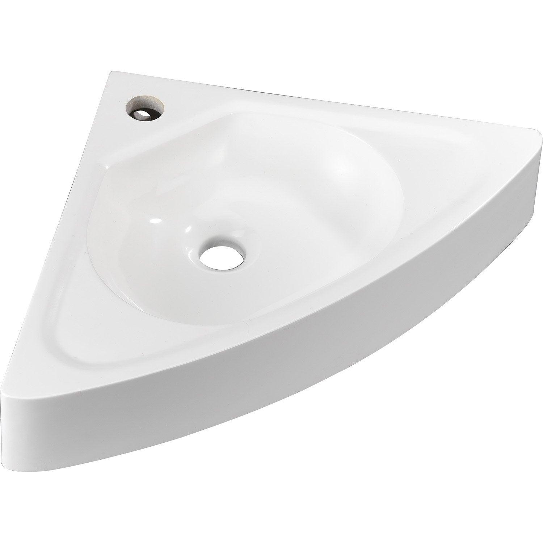Lave mains remix r sine blanc 41 x 58 cm leroy merlin - Leroy merlin lave main d angle ...