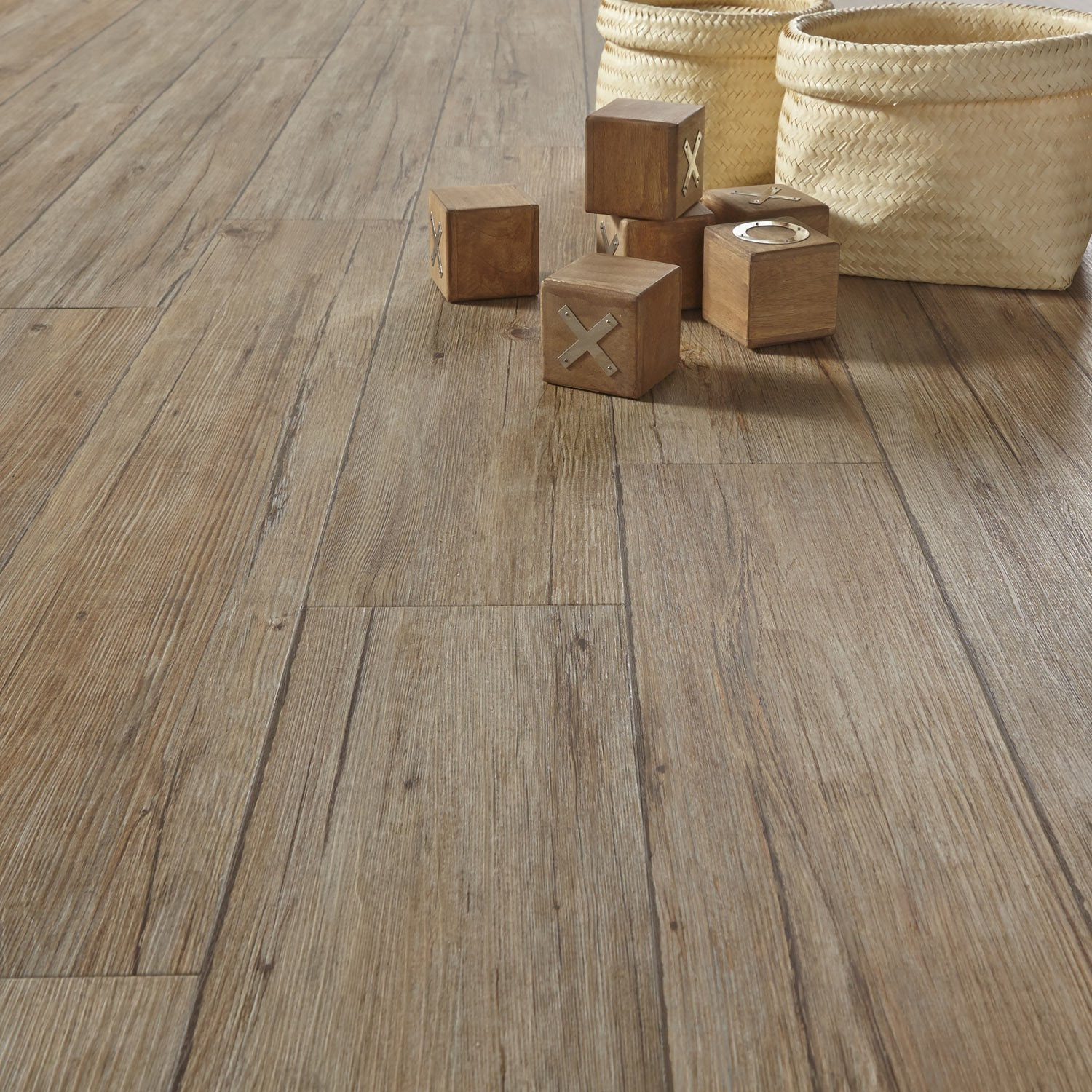 Lame pvc adh sive gerflor senso rustic 3ds muscade leroy for Dalles pvc clipsables gerflor