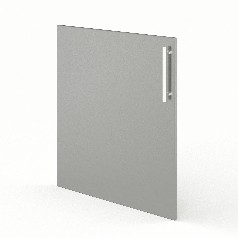 Porte de cuisine gris d lice x cm leroy merlin for Porte 60 cm cuisine