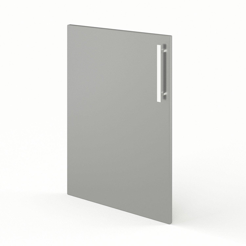 Porte de cuisine gris f50 d lice l50 x h70 cm leroy merlin - Porte facade cuisine leroy merlin ...
