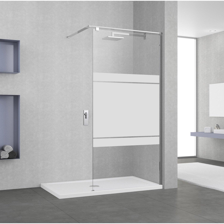 paroi de douche a l italienne eliseo profile chrome l 77. Black Bedroom Furniture Sets. Home Design Ideas