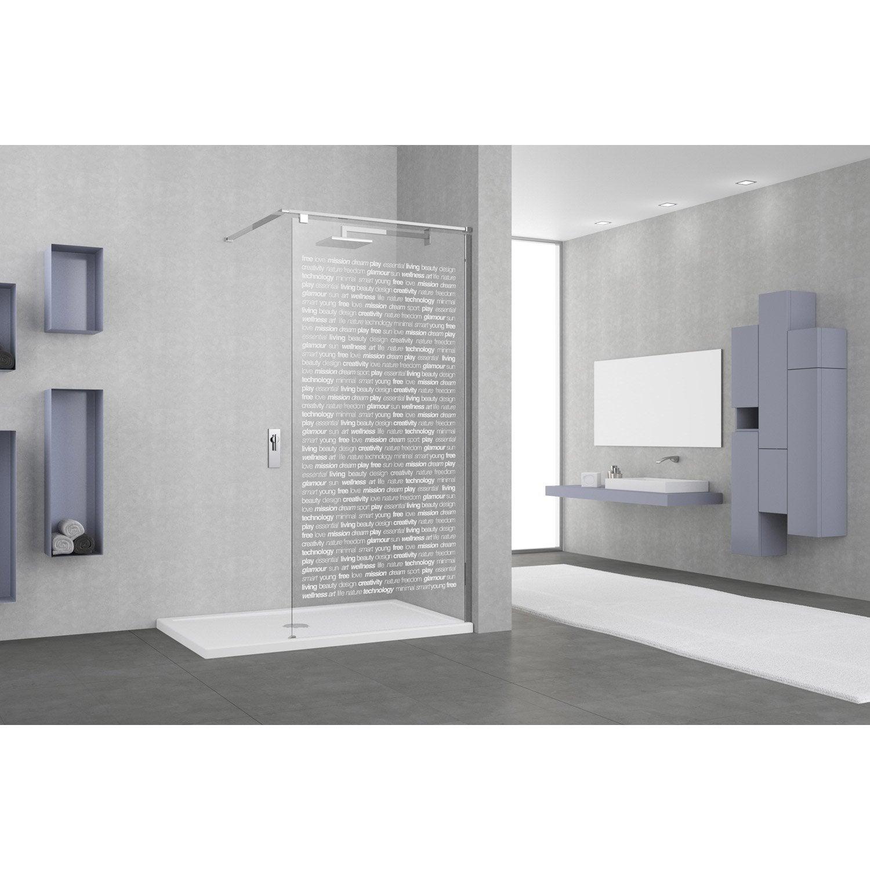 paroi de douche a l italienne eliseo profile chrome l 117. Black Bedroom Furniture Sets. Home Design Ideas
