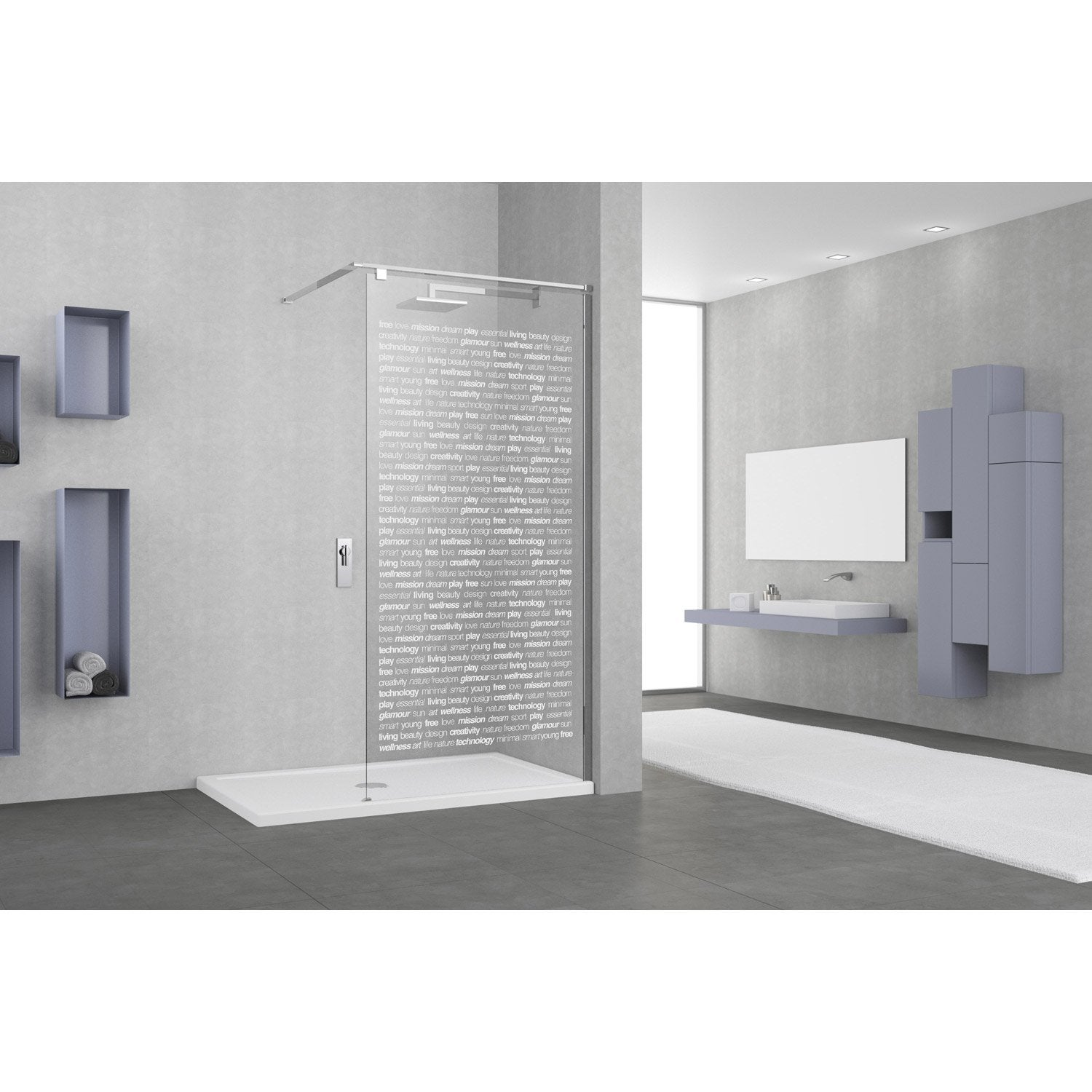 paroi de douche l 39 italienne eliseo profil chrom cm leroy merlin. Black Bedroom Furniture Sets. Home Design Ideas