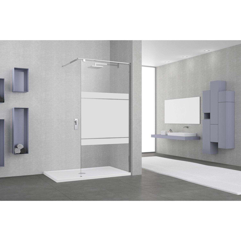 paroi de douche l italienne open 2 6mm profil chrom l. Black Bedroom Furniture Sets. Home Design Ideas