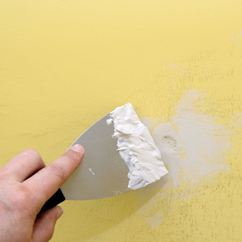 Wonderful Cool Reboucher Les Trous Et Fissures Sur Un Mur En Pltre H H Leroy Merlin With  Reparer Trou Porte